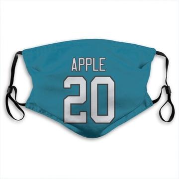 Carolina Panthers Eli Apple Blue Jersey Name & Number Face Mask