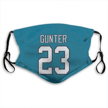 Carolina Panthers Ladarius Gunter Blue Jersey Name & Number Face Mask