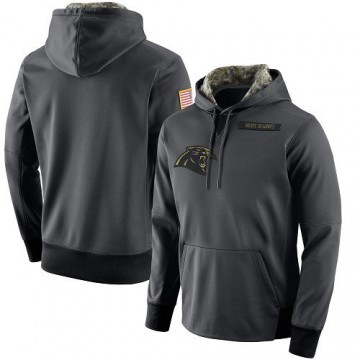 Men's Nike Carolina Panthers Anthracite Salute to Service Player Performance Hoodie -