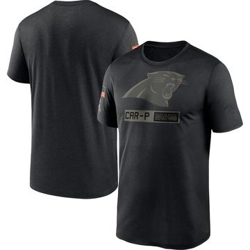 Men's Nike Carolina Panthers Black 2020 Salute to Service Team Logo Performance T-Shirt -