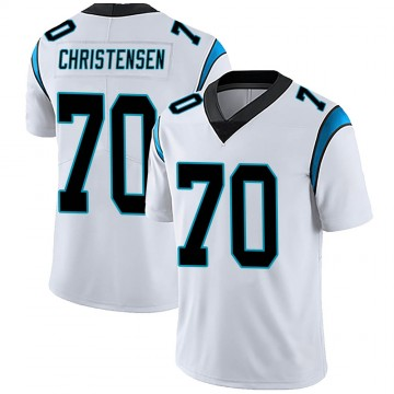 Men's Nike Carolina Panthers Brady Christensen White Vapor Untouchable Jersey - Limited