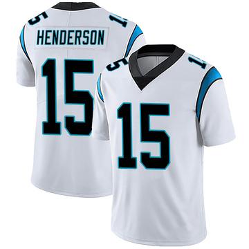 Men's Nike Carolina Panthers CJ Henderson White Vapor Untouchable Jersey - Limited