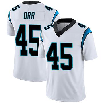 Men's Nike Carolina Panthers Chris Orr White Vapor Untouchable Jersey - Limited