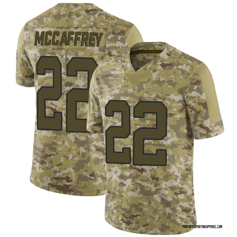 Men's Nike Carolina Panthers Christian McCaffrey Camo 2018 Salute to Service Jersey - Limited