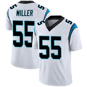 Men's Nike Carolina Panthers Christian Miller White Vapor Untouchable Jersey - Limited