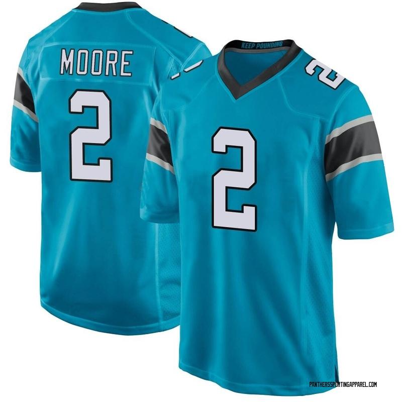 Men's Nike Carolina Panthers DJ Moore Blue Alternate Jersey - Game