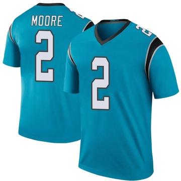 Men's Carolina Panthers DJ Moore Blue Color Rush Jersey - Legend