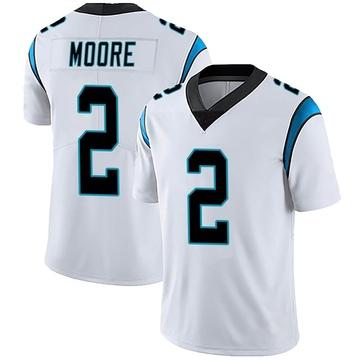 Men's Nike Carolina Panthers DJ Moore White Vapor Untouchable Jersey - Limited