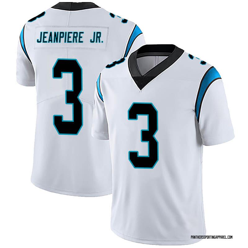 pretty nice d2b38 87031 Men's Nike Carolina Panthers Damion Jeanpiere Jr. White Vapor Untouchable  Jersey - Limited