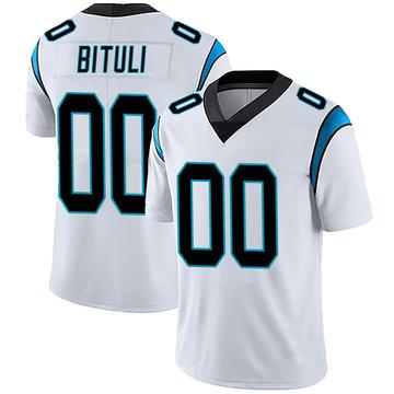 Men's Nike Carolina Panthers Daniel Bituli White Vapor Untouchable Jersey - Limited