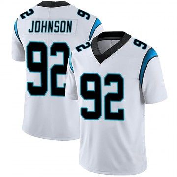 Men's Nike Carolina Panthers Darryl Johnson White Vapor Untouchable Jersey - Limited