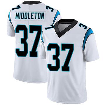 Men's Nike Carolina Panthers Doug Middleton White Vapor Untouchable Jersey - Limited