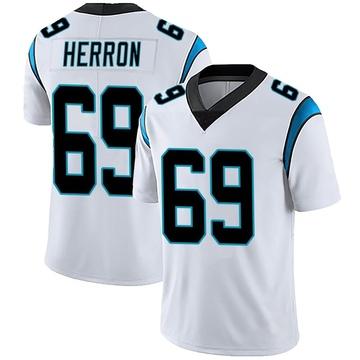 Men's Nike Carolina Panthers Frank Herron White Vapor Untouchable Jersey - Limited
