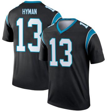 Men's Nike Carolina Panthers Ishmael Hyman Black Jersey - Legend