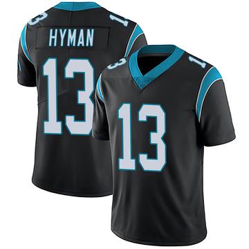 Men's Nike Carolina Panthers Ishmael Hyman Black Team Color Vapor Untouchable Jersey - Limited