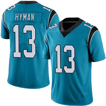 Men's Nike Carolina Panthers Ishmael Hyman Blue Alternate Vapor Untouchable Jersey - Limited