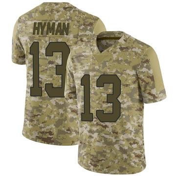 Men's Nike Carolina Panthers Ishmael Hyman Camo 2018 Salute to Service Jersey - Limited