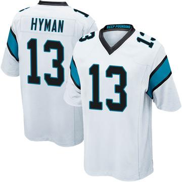 Men's Nike Carolina Panthers Ishmael Hyman White Jersey - Game