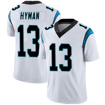 Men's Nike Carolina Panthers Ishmael Hyman White Vapor Untouchable Jersey - Limited