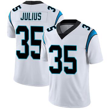 Men's Nike Carolina Panthers Jalen Julius White Vapor Untouchable Jersey - Limited