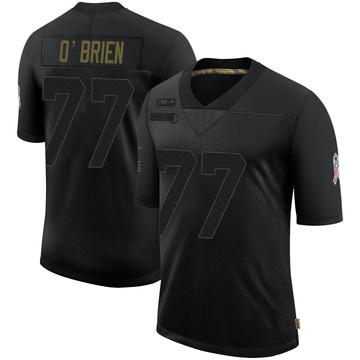 Men's Nike Carolina Panthers Kitt O'Brien Black 2020 Salute To Service Jersey - Limited