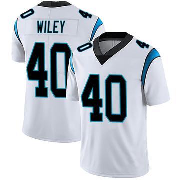 Men's Nike Carolina Panthers LaDarius Wiley White Vapor Untouchable Jersey - Limited