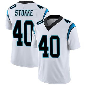 Men's Nike Carolina Panthers Mason Stokke White Vapor Untouchable Jersey - Limited