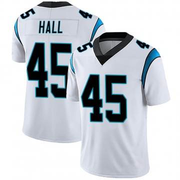 Men's Nike Carolina Panthers Nate Hall White Vapor Untouchable Jersey - Limited