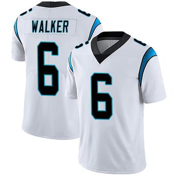 Men's Nike Carolina Panthers P.J. Walker White Vapor Untouchable Jersey - Limited
