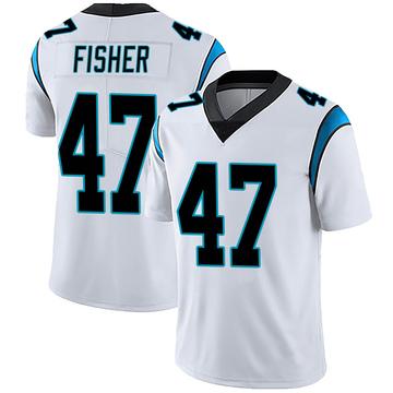 Men's Nike Carolina Panthers Paddy Fisher White Vapor Untouchable Jersey - Limited