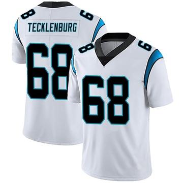 Men's Nike Carolina Panthers Sam Tecklenburg White Vapor Untouchable Jersey - Limited