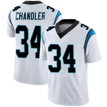 Men's Nike Carolina Panthers Sean Chandler White Vapor Untouchable Jersey - Limited