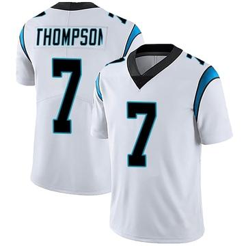 Men's Nike Carolina Panthers Shaq Thompson White Vapor Untouchable Jersey - Limited