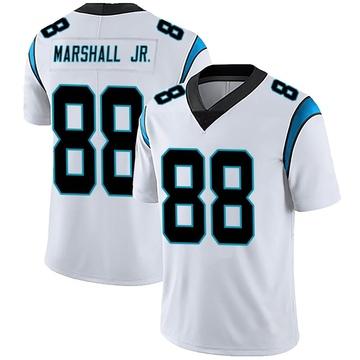 Men's Nike Carolina Panthers Terrace Marshall Jr. White Vapor Untouchable Jersey - Limited