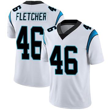 Men's Nike Carolina Panthers Thomas Fletcher White Vapor Untouchable Jersey - Limited