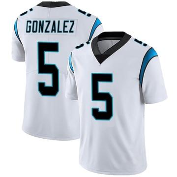 Men's Nike Carolina Panthers Zane Gonzalez White Vapor Untouchable Jersey - Limited