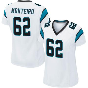 Women's Nike Carolina Panthers Aaron Monteiro White Jersey - Game