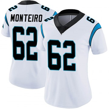 Women's Nike Carolina Panthers Aaron Monteiro White Vapor Untouchable Jersey - Limited