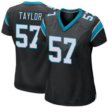 Women's Nike Carolina Panthers Adarius Taylor Black Team Color Jersey - Game