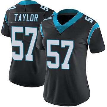Women's Nike Carolina Panthers Adarius Taylor Black Team Color Vapor Untouchable Jersey - Limited