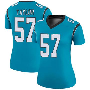 Women's Nike Carolina Panthers Adarius Taylor Blue Color Rush Jersey - Legend