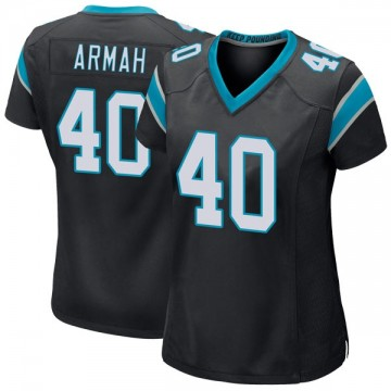 Women's Nike Carolina Panthers Alex Armah Black Team Color Jersey - Game