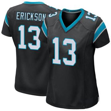 Women's Nike Carolina Panthers Alex Erickson Black Team Color Jersey - Game