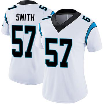 Women's Nike Carolina Panthers Andre Smith White Vapor Untouchable Jersey - Limited