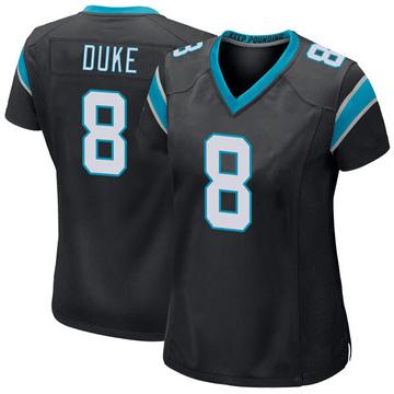 Women's Nike Carolina Panthers Austin Duke Black Team Color Jersey - Game