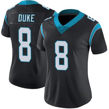 Women's Nike Carolina Panthers Austin Duke Black Team Color Vapor Untouchable Jersey - Limited
