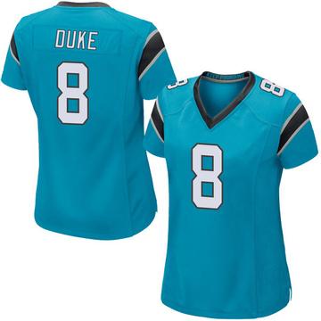 Women's Nike Carolina Panthers Austin Duke Blue Alternate Jersey - Game