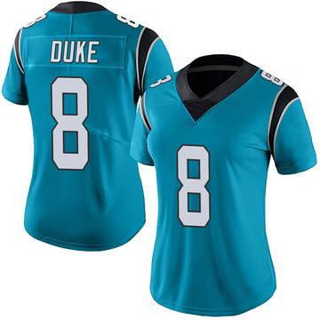 Women's Nike Carolina Panthers Austin Duke Blue Alternate Vapor Untouchable Jersey - Limited