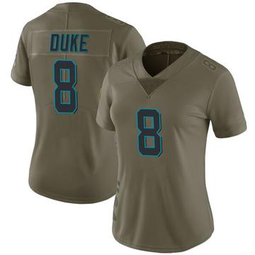 Women's Nike Carolina Panthers Austin Duke Green 2017 Salute to Service Jersey - Limited