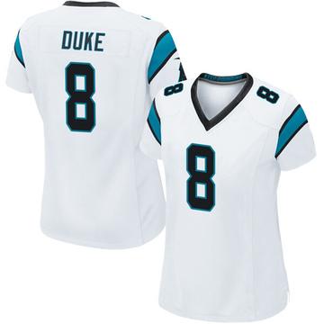 Women's Nike Carolina Panthers Austin Duke White Jersey - Game